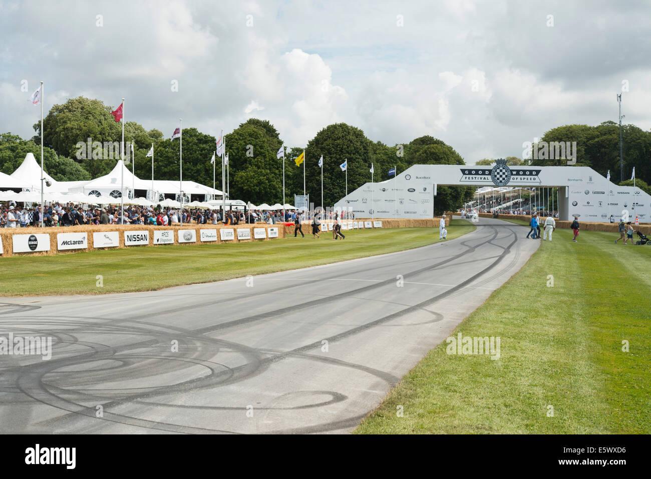 Bergrennen Track beim Goodwood Festival of Speed Stockbild