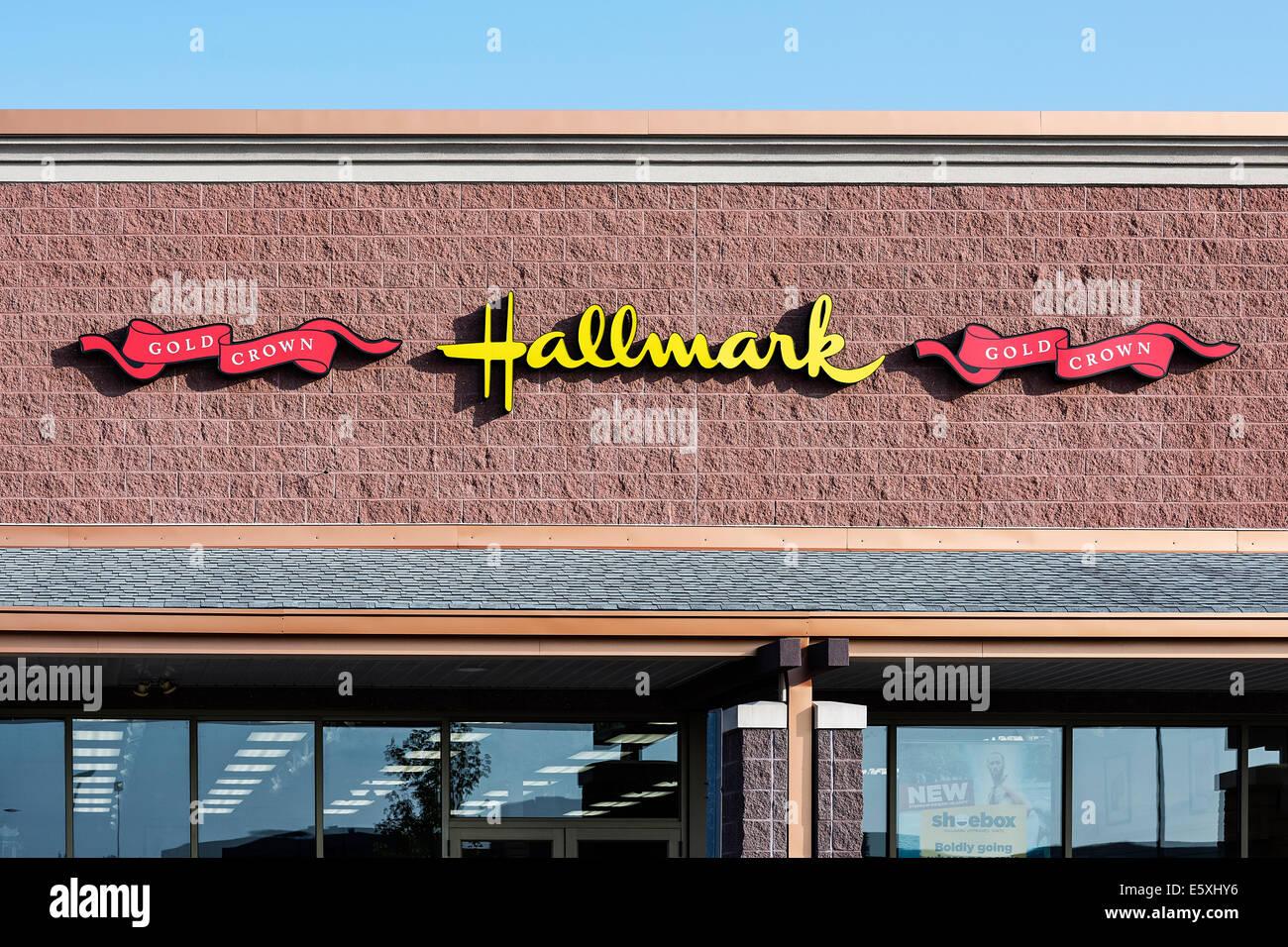 Hallmark Grußkarten-Shop, Mount Stinklorbeer, New Jersey, USA Stockbild