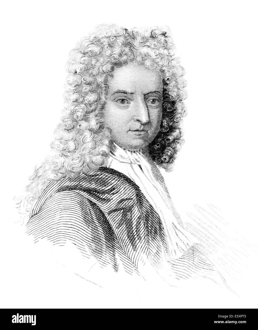 Porträt von Daniel Defoe; 1661 - 1731; ein englischer Händler; Schriftsteller und Journalist; Autor von Stockbild