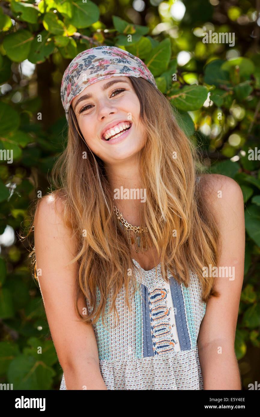 Teenager-Mädchen Lachen Stockbild