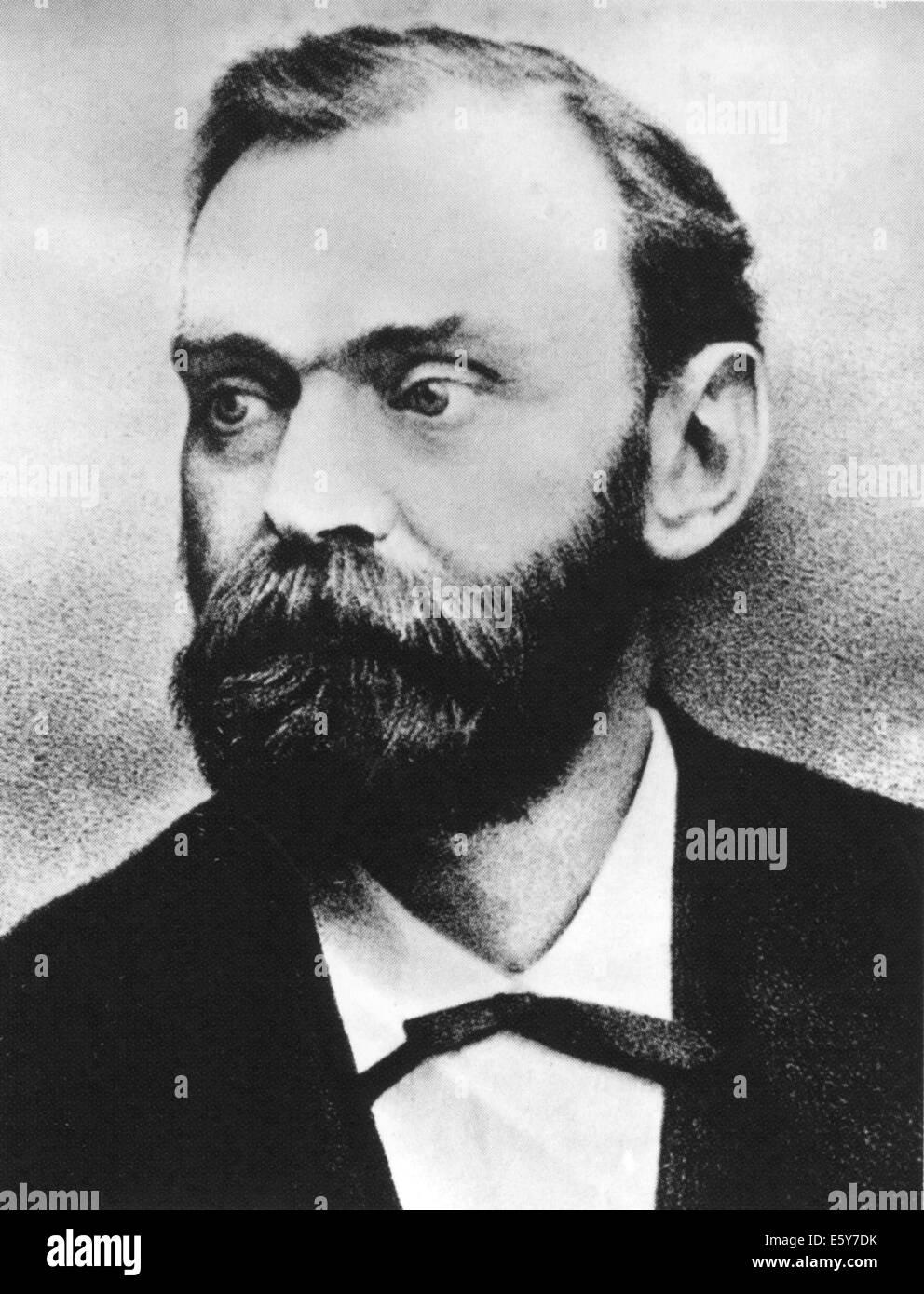 Schwedische Chemiker ALFRED NOBEL (1833-1896), Dynamit erfunden hat Stockbild