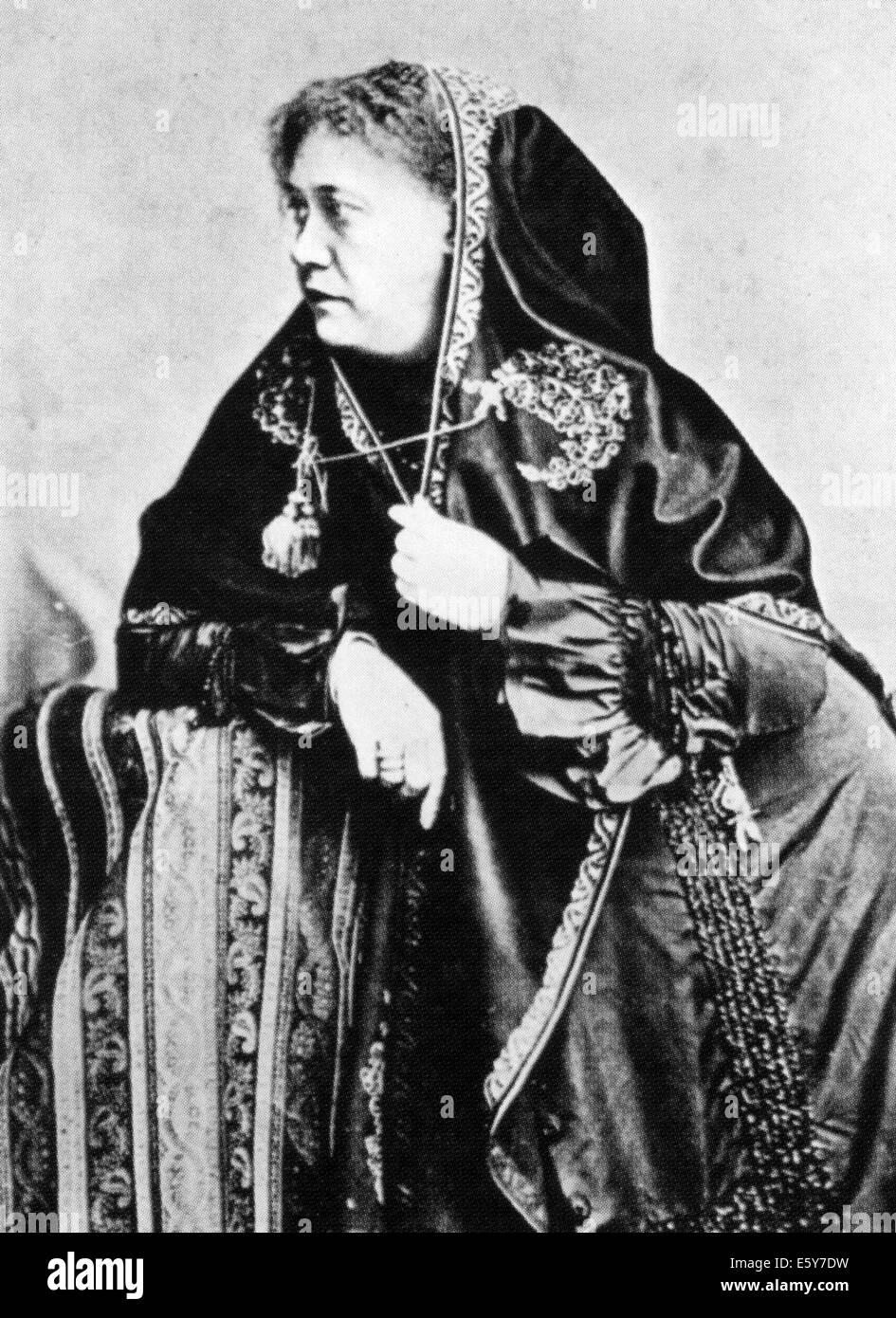 HELENA BLAVATSKY (1831-1891) ukrainischen Okkultist Stockbild