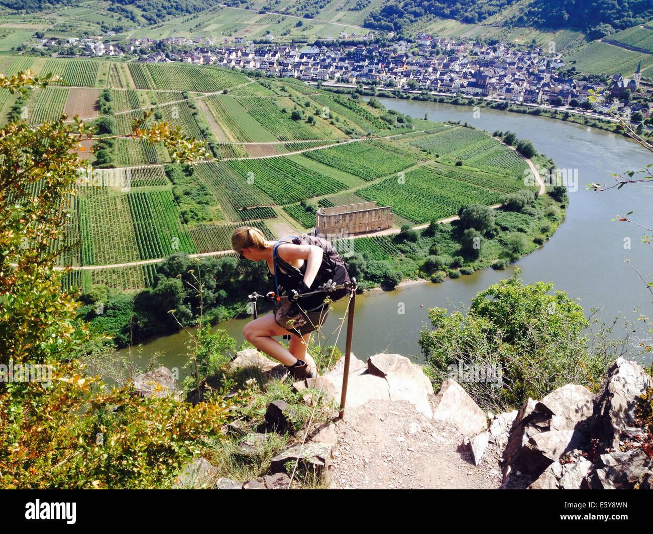 Klettersteig Calmont : Calmont klettersteig stockfotos bilder