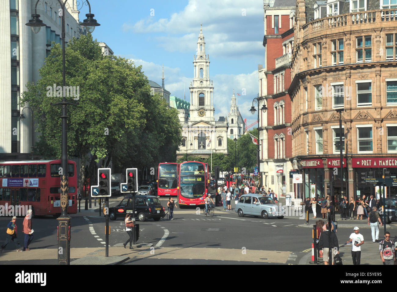 Kirche St. Mary-le-Strang Aldwych London Stockbild