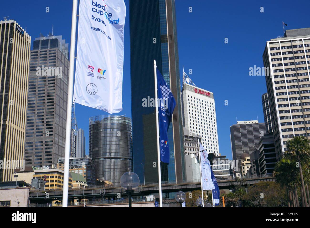 Sydney CBD gesehen vom circular Quay, new-South.Wales, Australien Stockbild