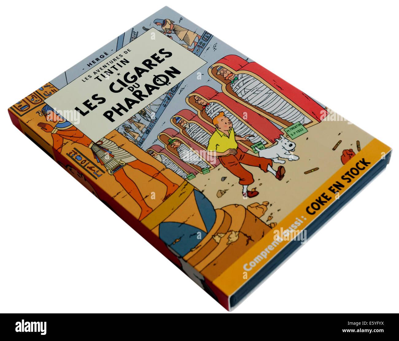 Tim und Struppi DVD Les Cigares du Pharaon (Zigarren des Pharaos) Stockbild