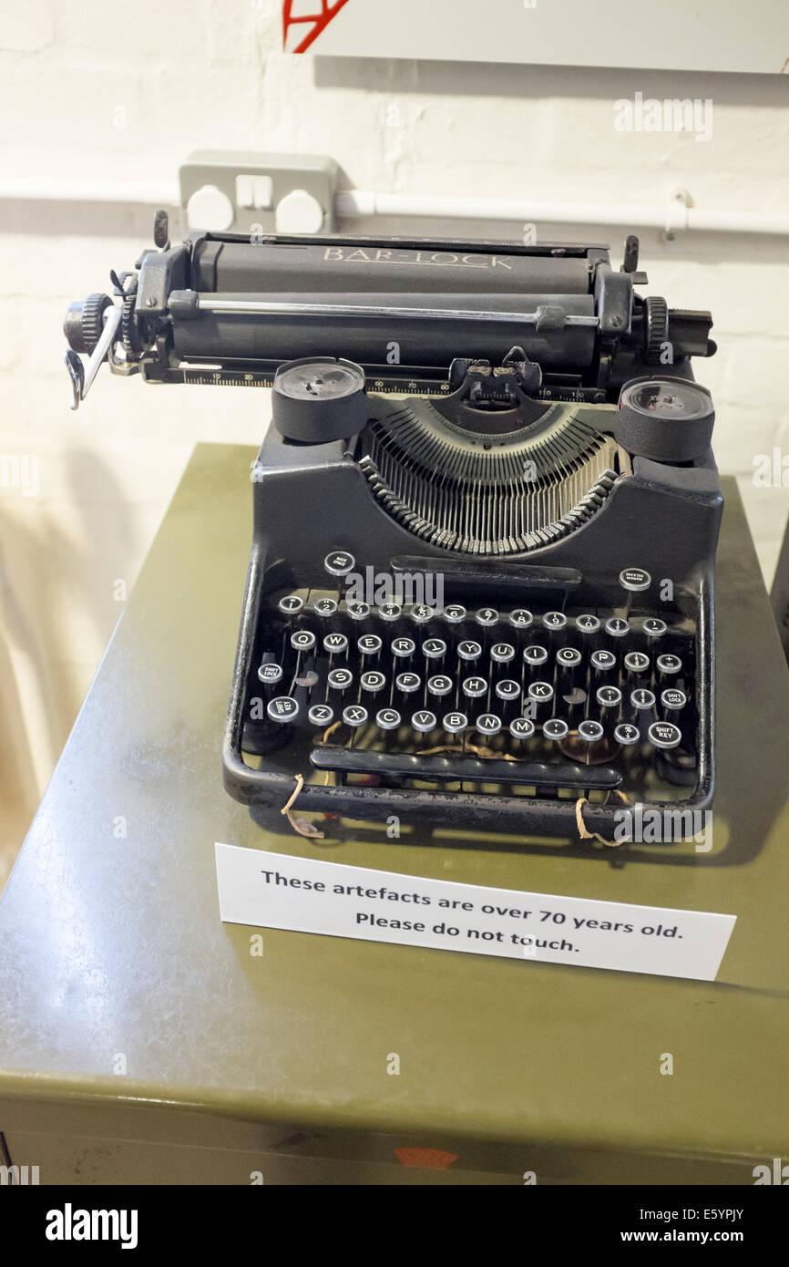 Altmodische Schreibmaschine Stockbild