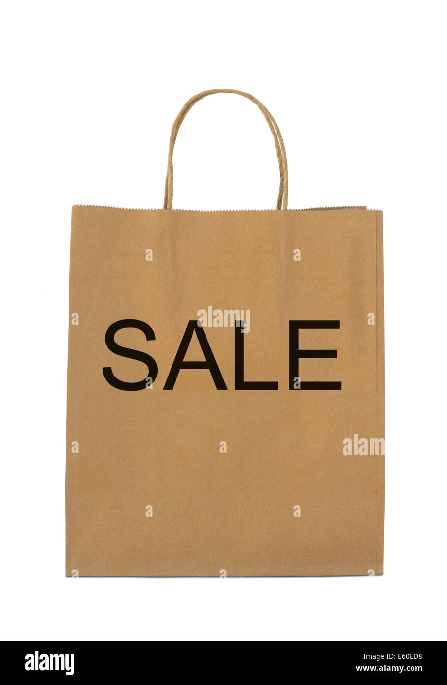 """Verkauf"" auf braune Shopping bag Stockbild"