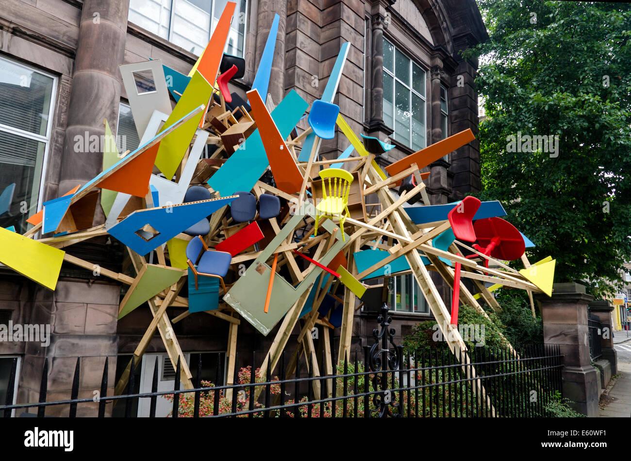 Virus, eine Installation des mexikanischen Künstlers Antonio O'Connell in Summerhall in Edinburgh im Rahmen Stockbild