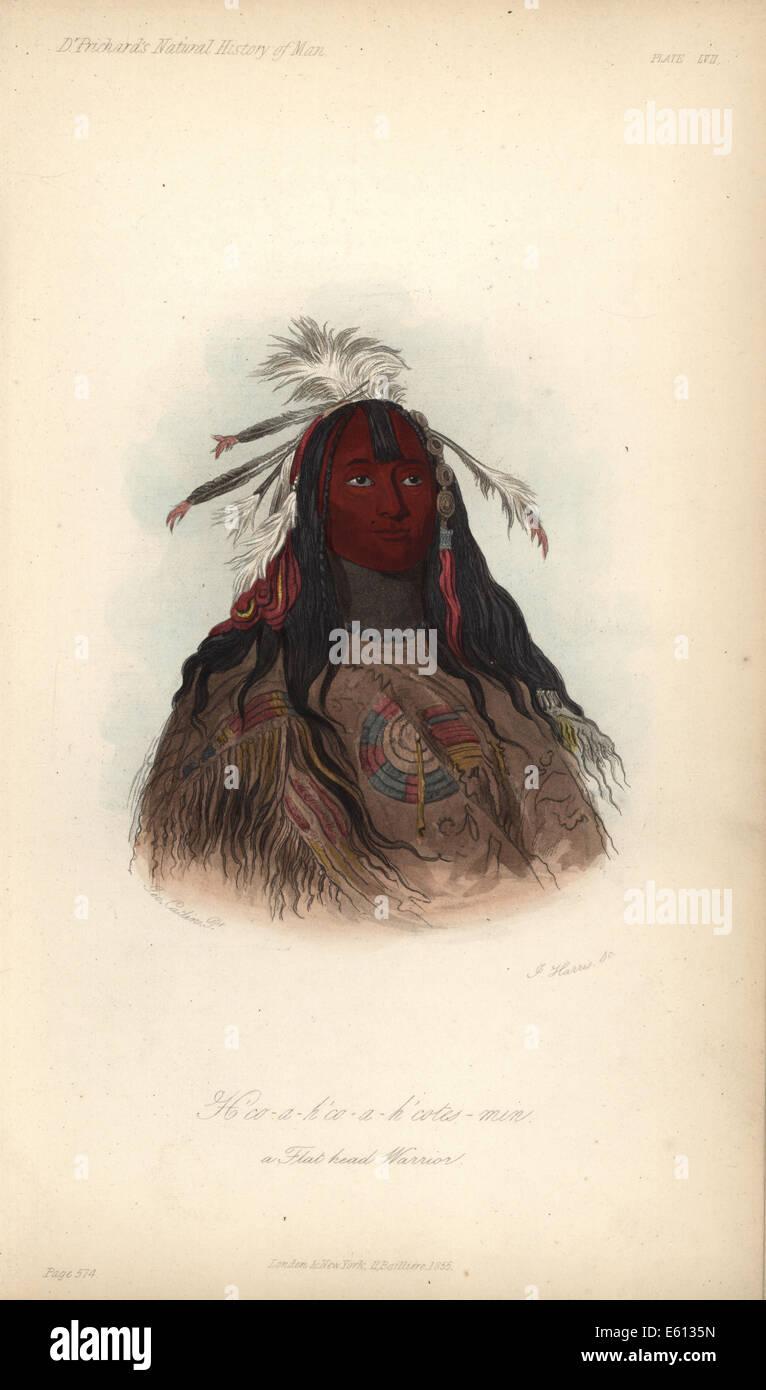 Kaninchen Haut Leggings, Flathead Krieger von den Nez Perce. Stockbild