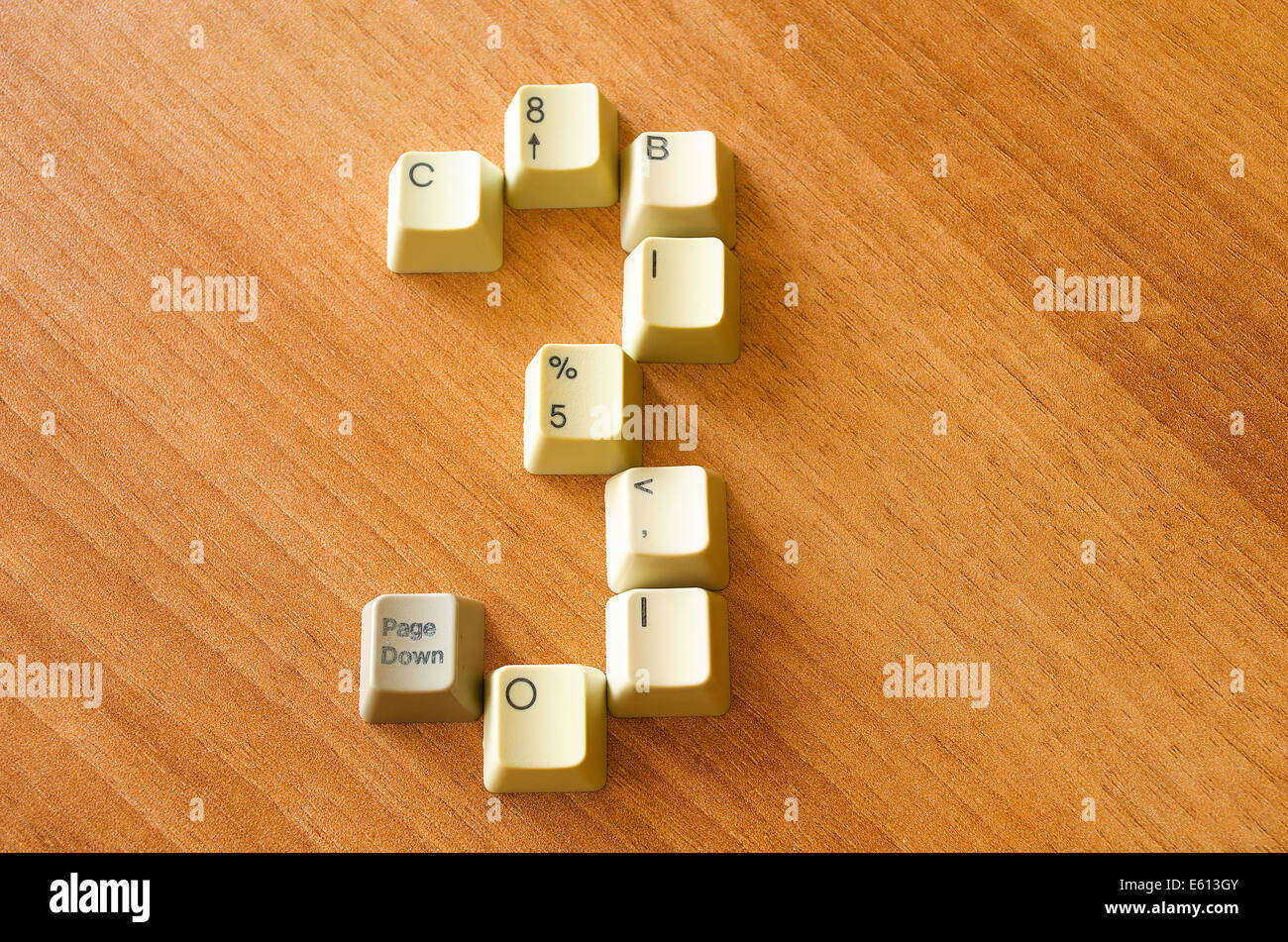 Nummer drei mit Keyboard-Tasten Stockbild
