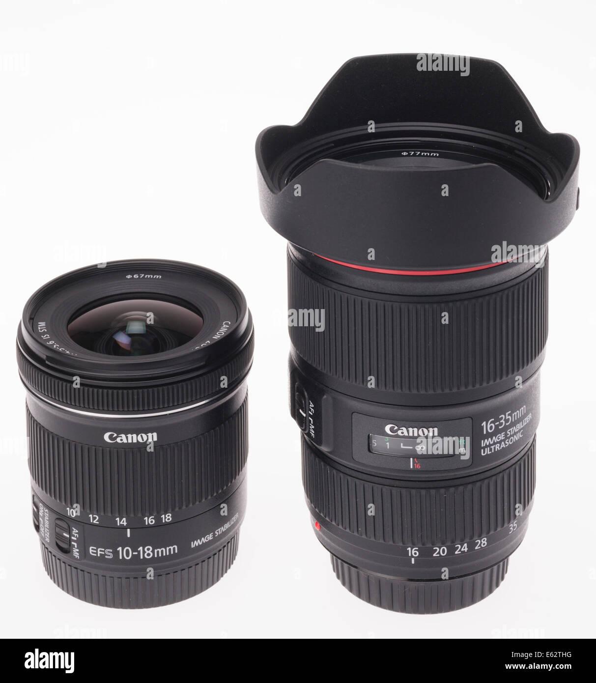 DSLR-Kamera-Zoom-Objektiv-Design. Weitwinkel-zooms für Canon APS-C ...