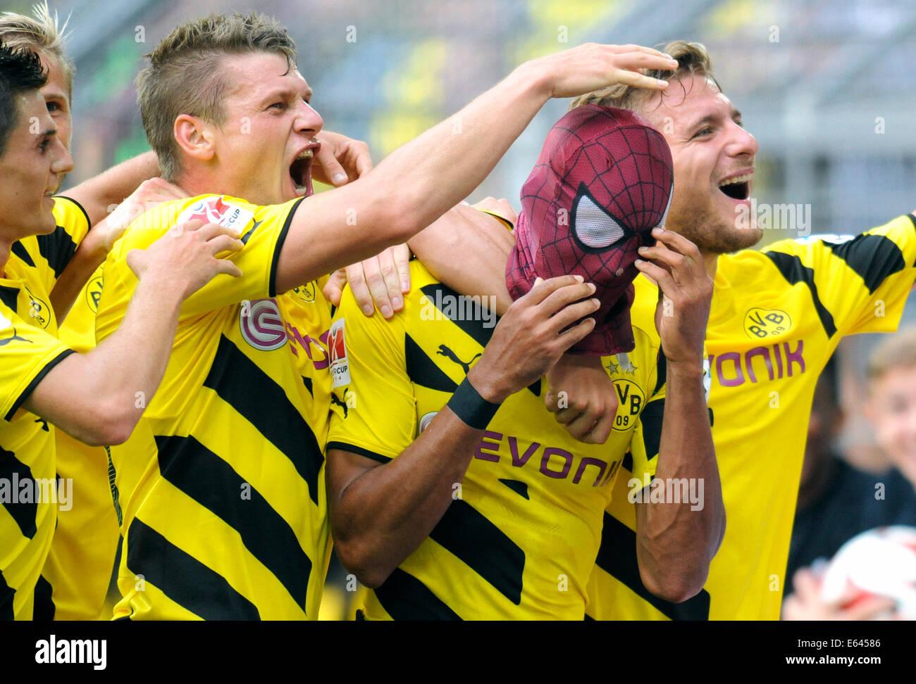 Dortmund, Deutschland. 13. August 2014. Fußball, Deutschland, Supercup, Signal-Iduna-Park Dortmund: Borussia Dortmund, Stockfoto