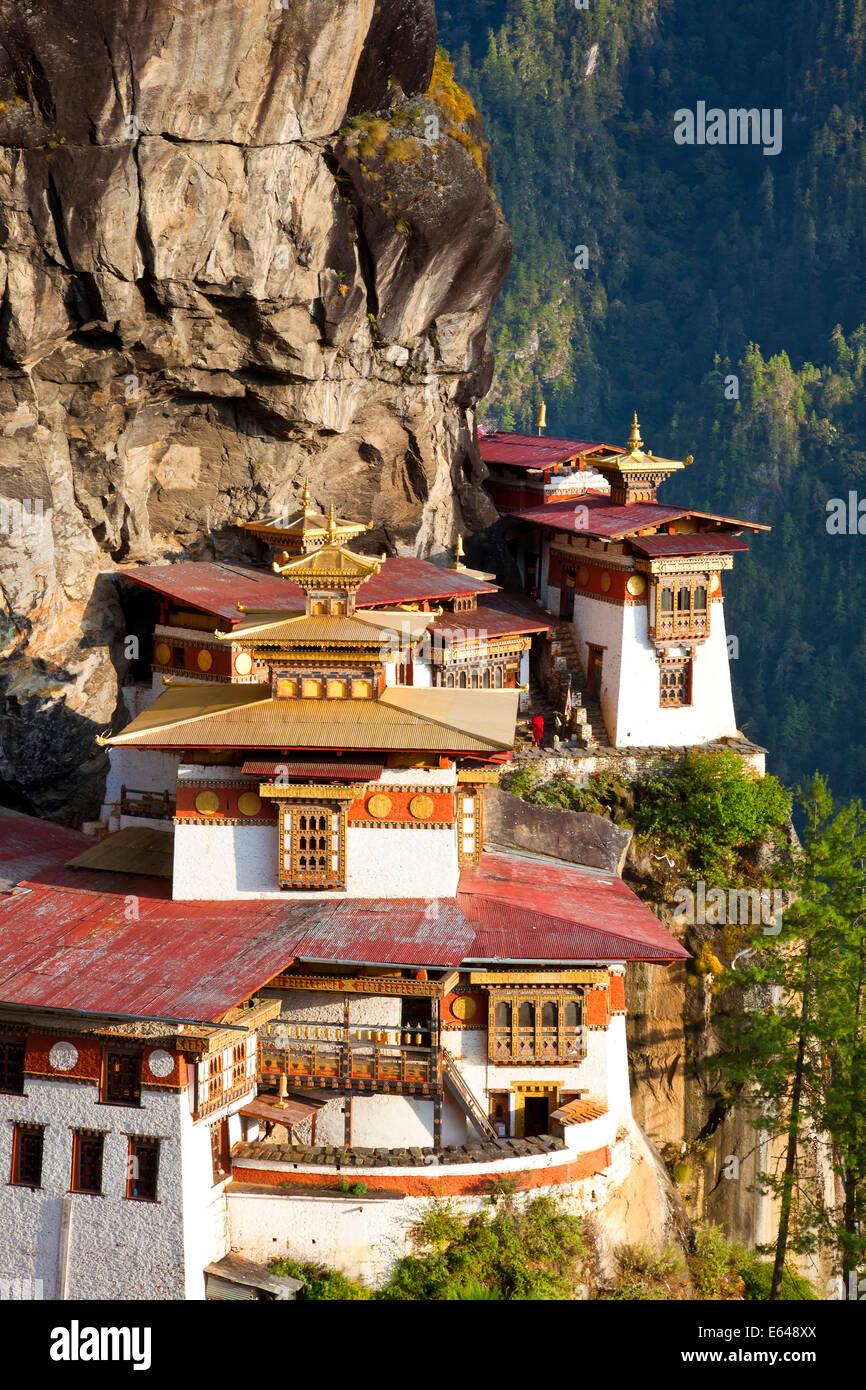 Tiger Nest (Taktsang Goemba), Paro-Tal, Bhutan Stockfoto
