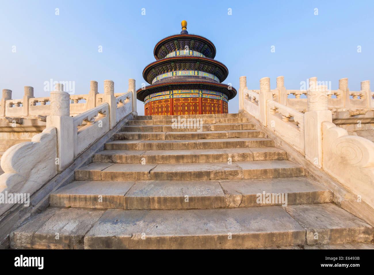 Tempel des Himmels & Hall des Gebets für die Ernte, Peking, China Stockbild