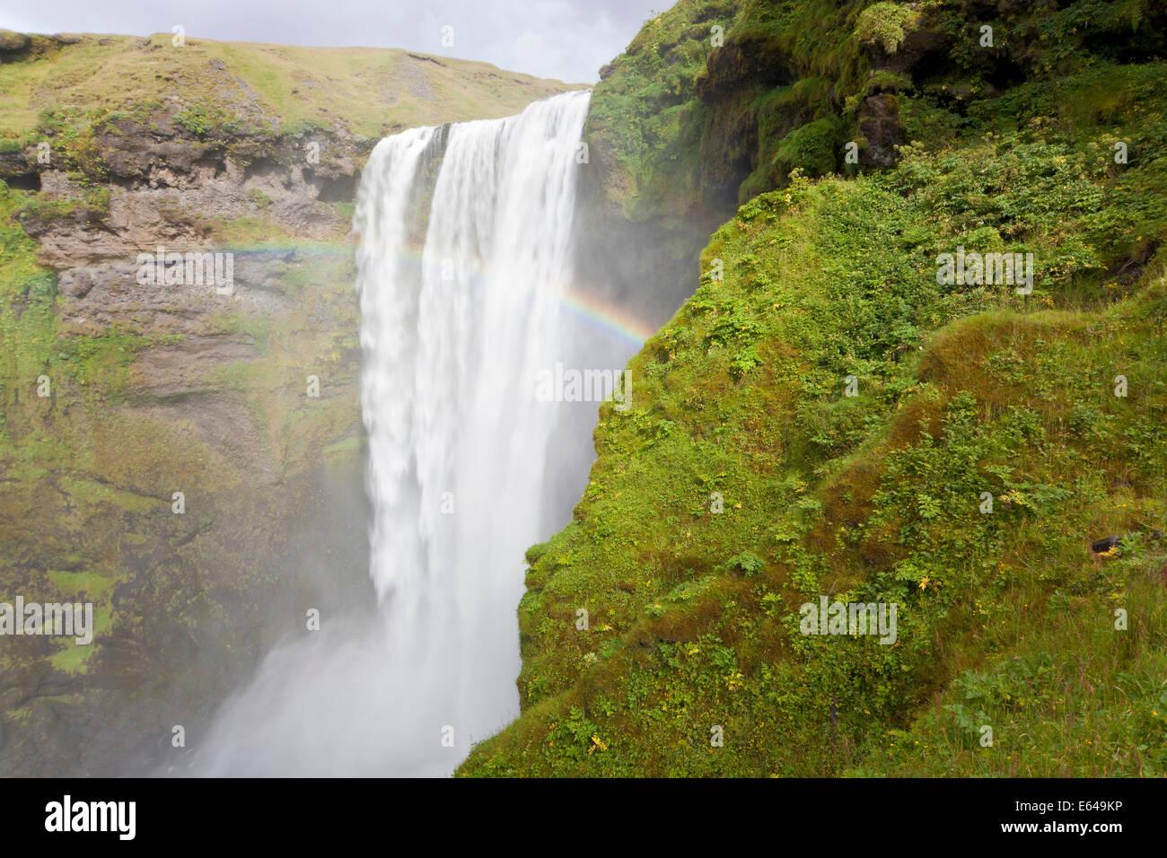 Skogafoss Wasserfall, Südküste, Island Stockbild