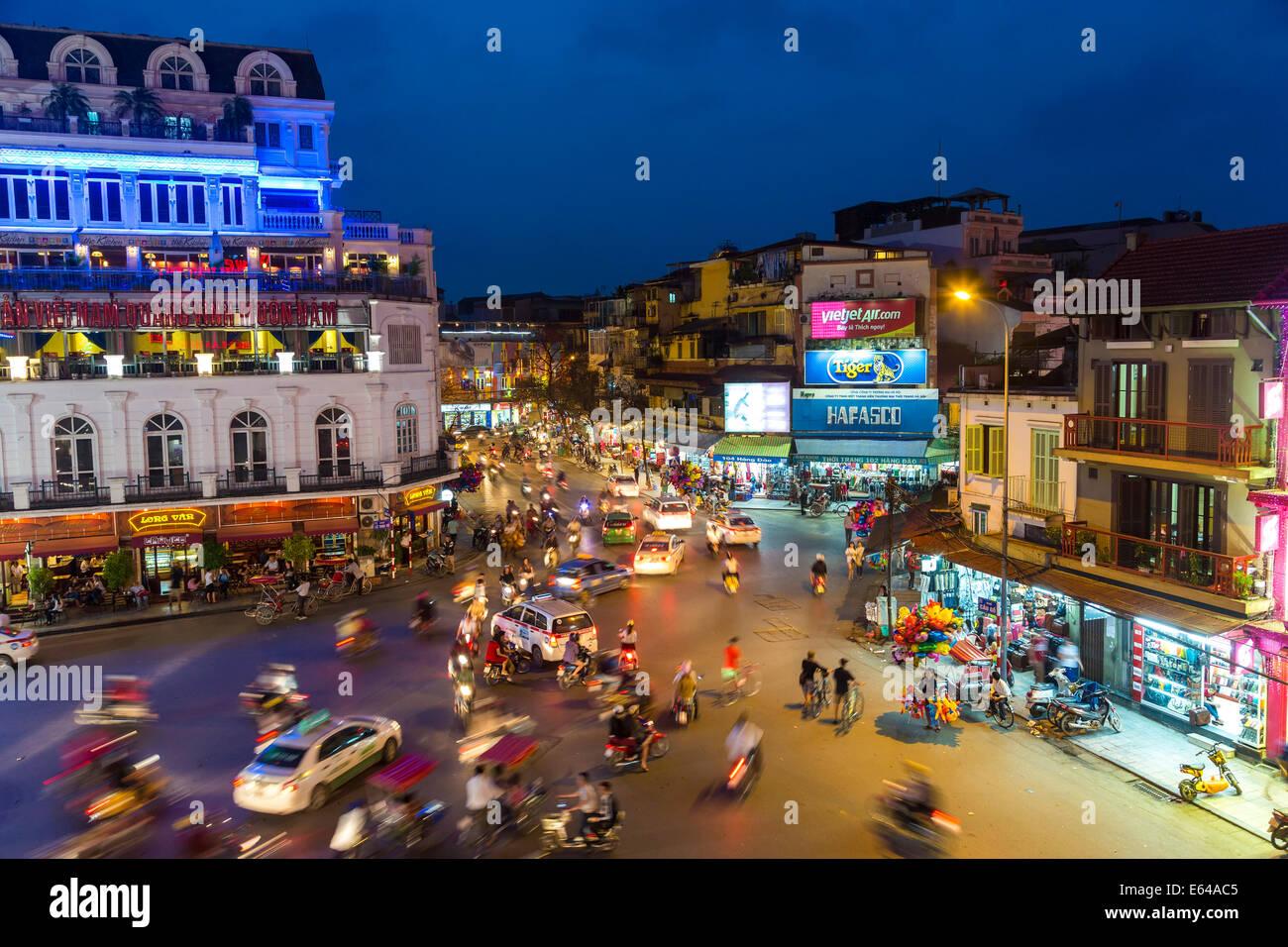 Ba Dinh Platz in der Abenddämmerung, Hanoi, Vietnam Stockbild