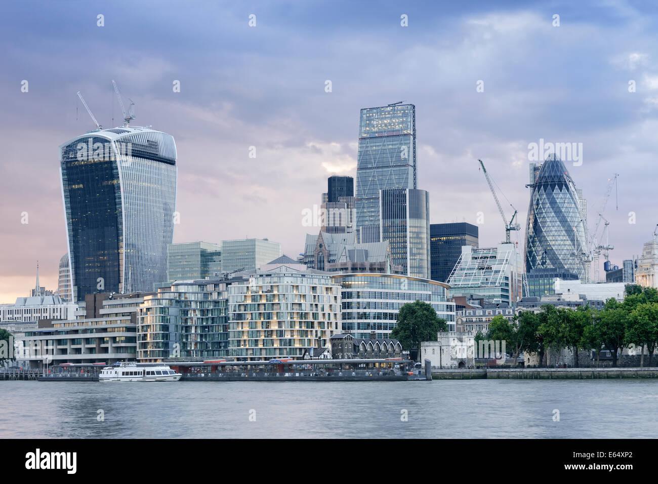 Der Londoner Skyline, UK. Stockbild