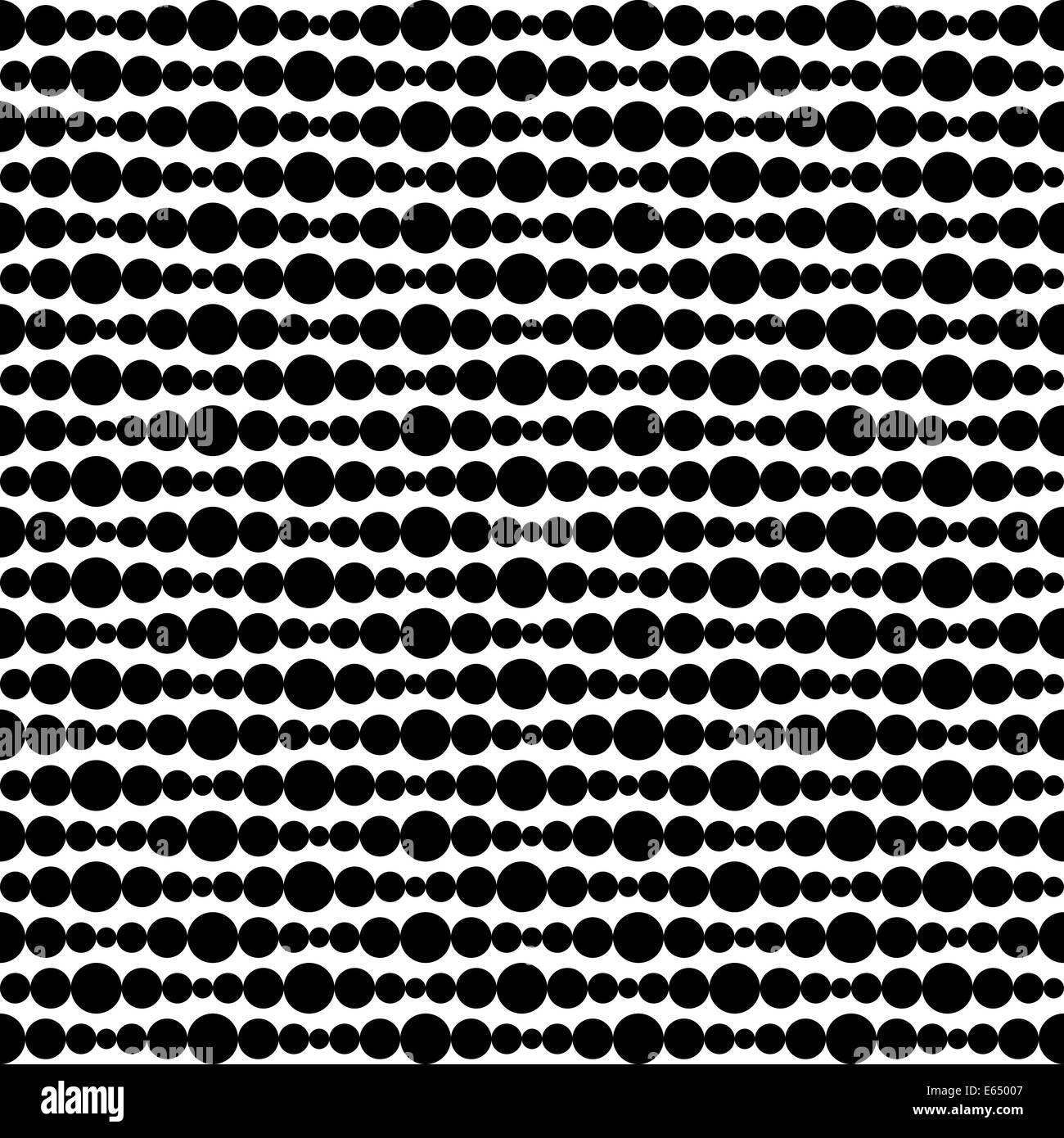 Retro-Muster Punkte Entwicklungskonzeption Retromuster Schwarz Weiß Muster Abstrakt Kunst Artwort Illustration Stockbild