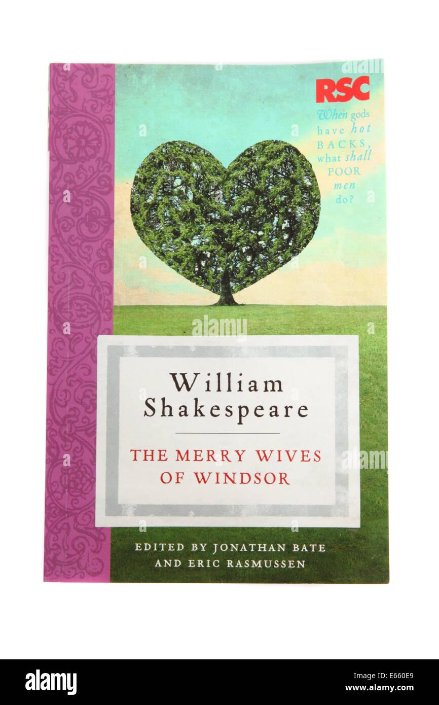 Das Spiel The Merry Wives of Windsor - geschrieben von William Shakespeare Stockbild