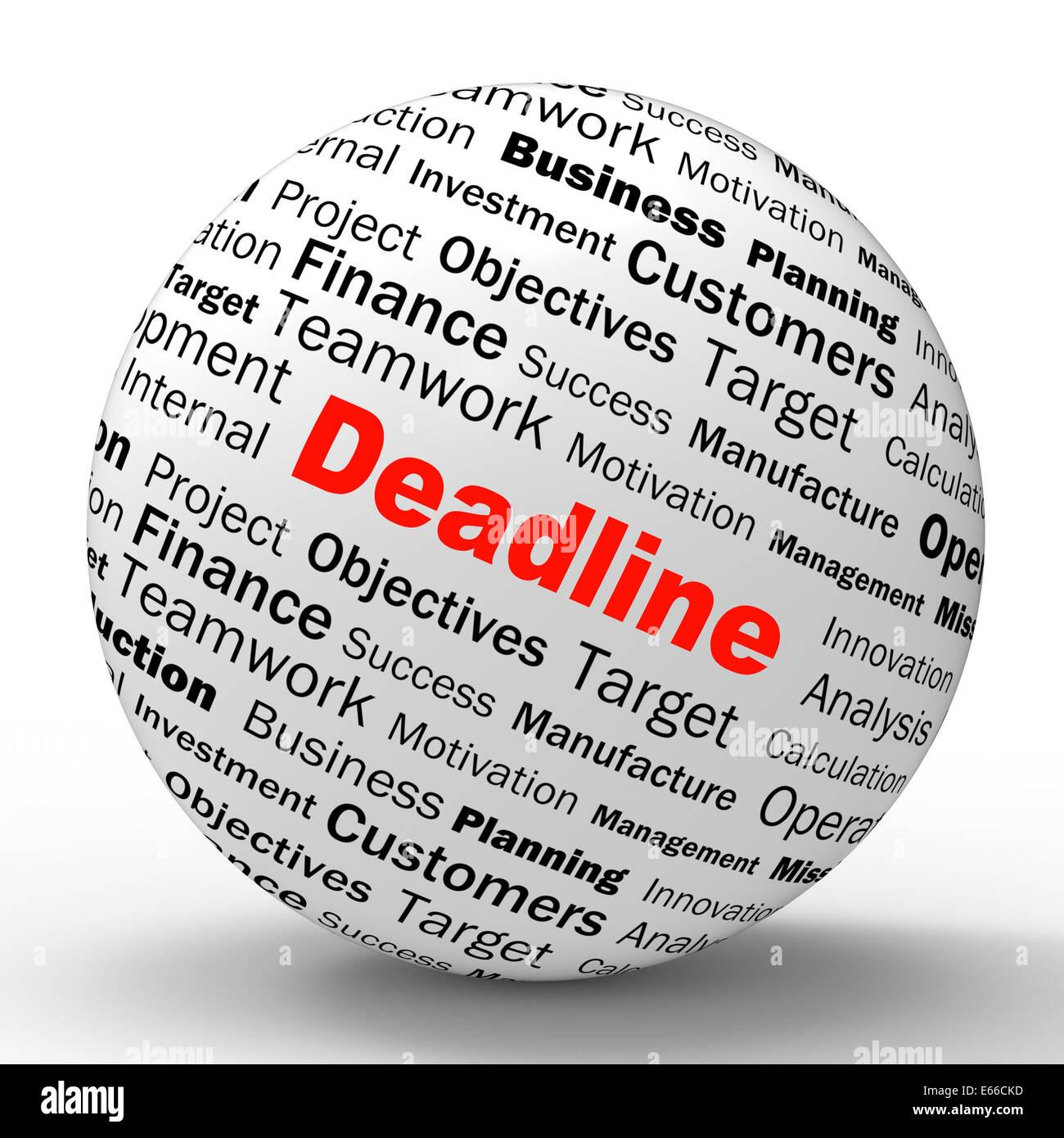 Deadline Limit Meaning Target Date Stockfotos & Deadline Limit ...