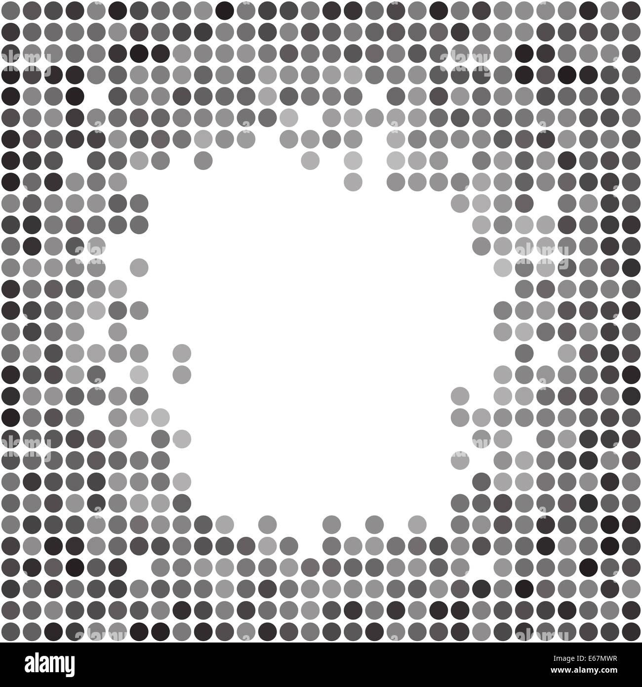 Gepunktete Graustufen Hintergrundtextur abstrakt Stockbild