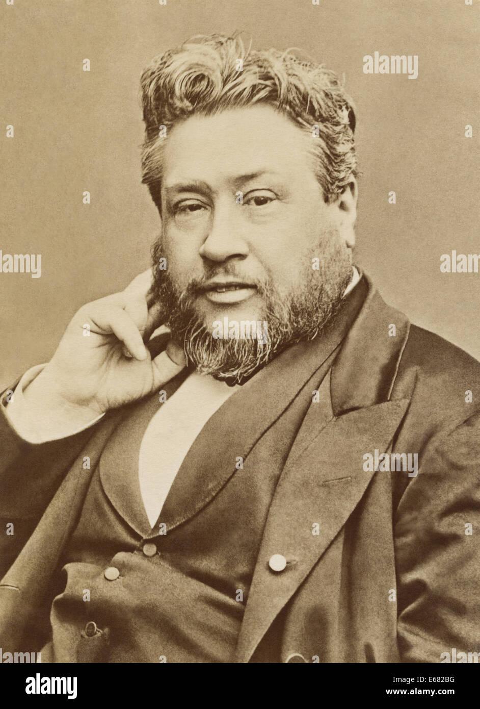 """Charles Haddon (C.H.) Spurgeon, renommierten Baptistenprediger in London bekannt als """"Prinz der Prediger."""" Porträt Stockfoto"""