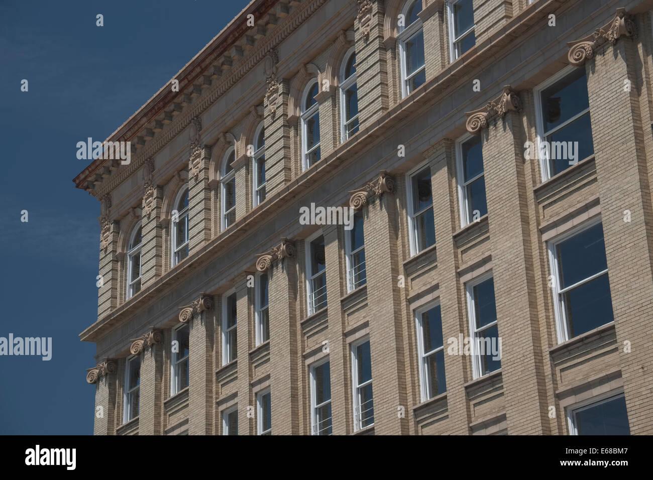 New Bern, North Carolina Architektur. Pollock St Stockbild