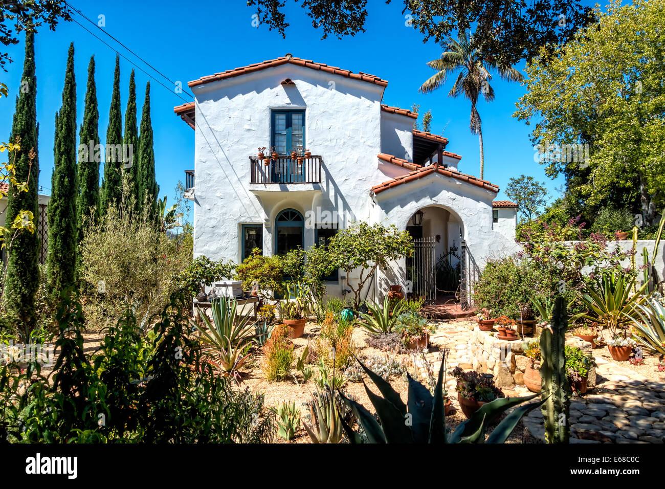 Haus Bauen Im Traditionellen Stil Santa Barbara Kalifornien Usa