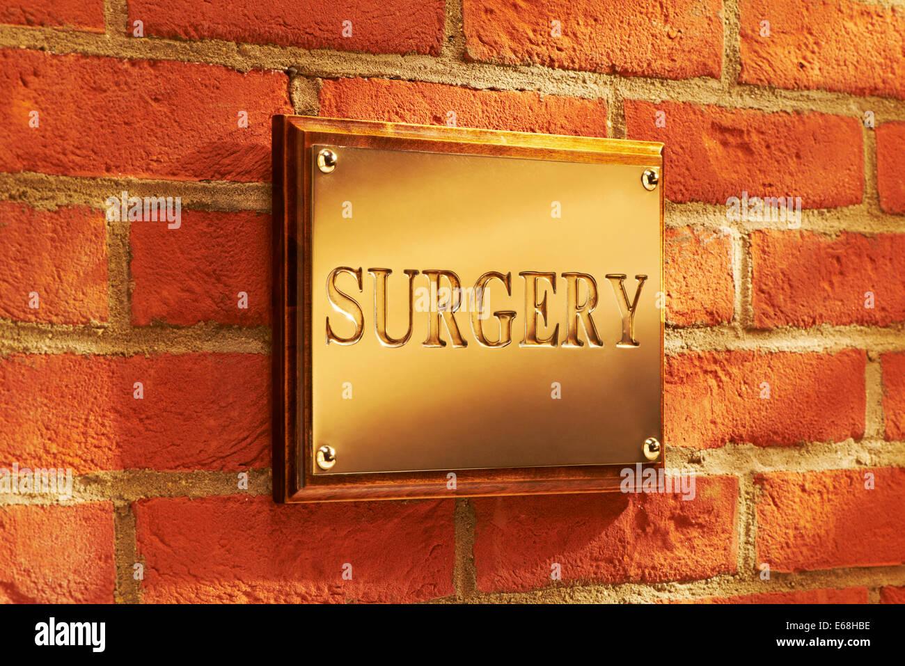 Äußere Chirurgie Zeichen Stockbild