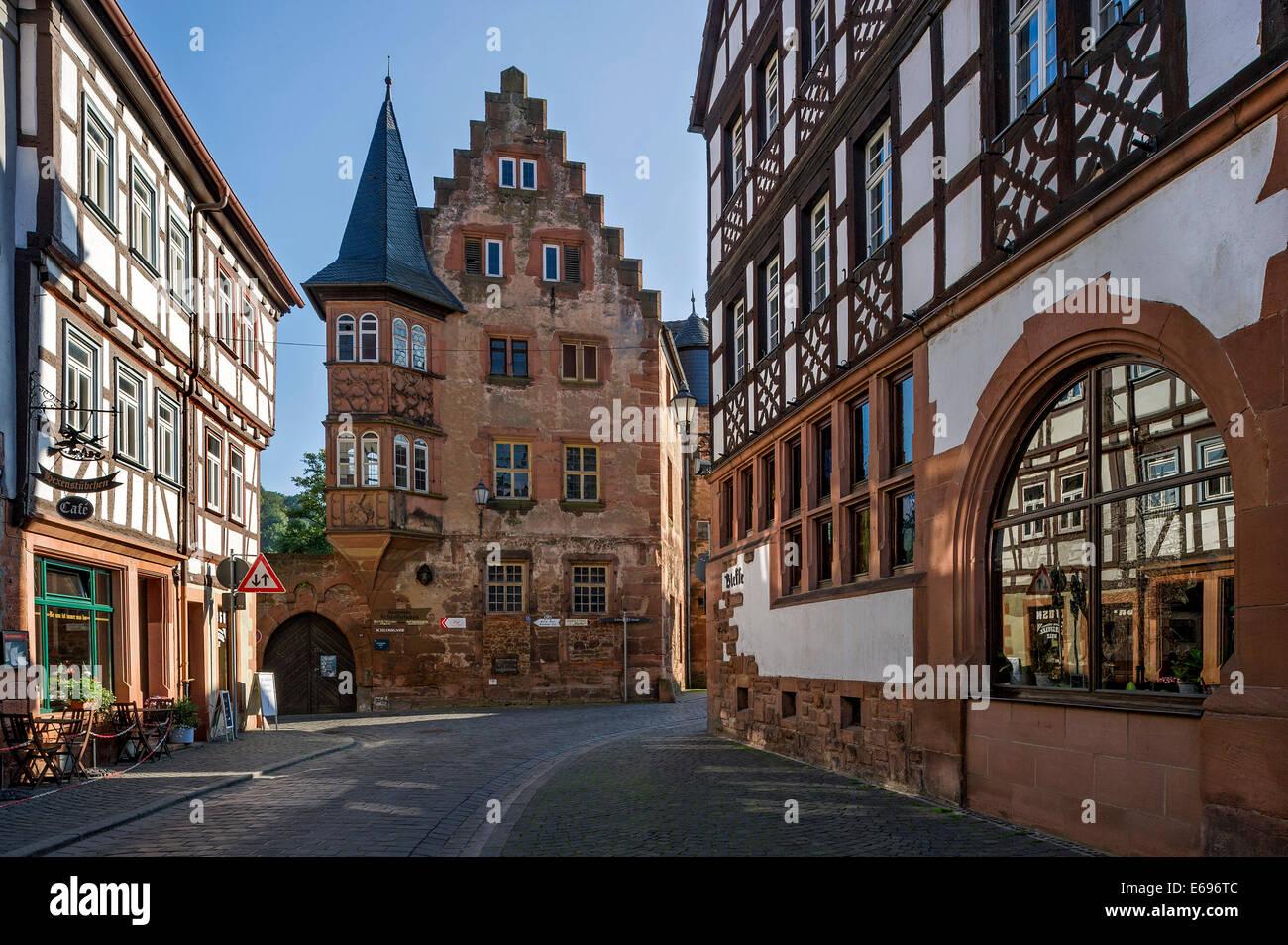 Späten gotischen steinernen Haus Altstadt Büdingen