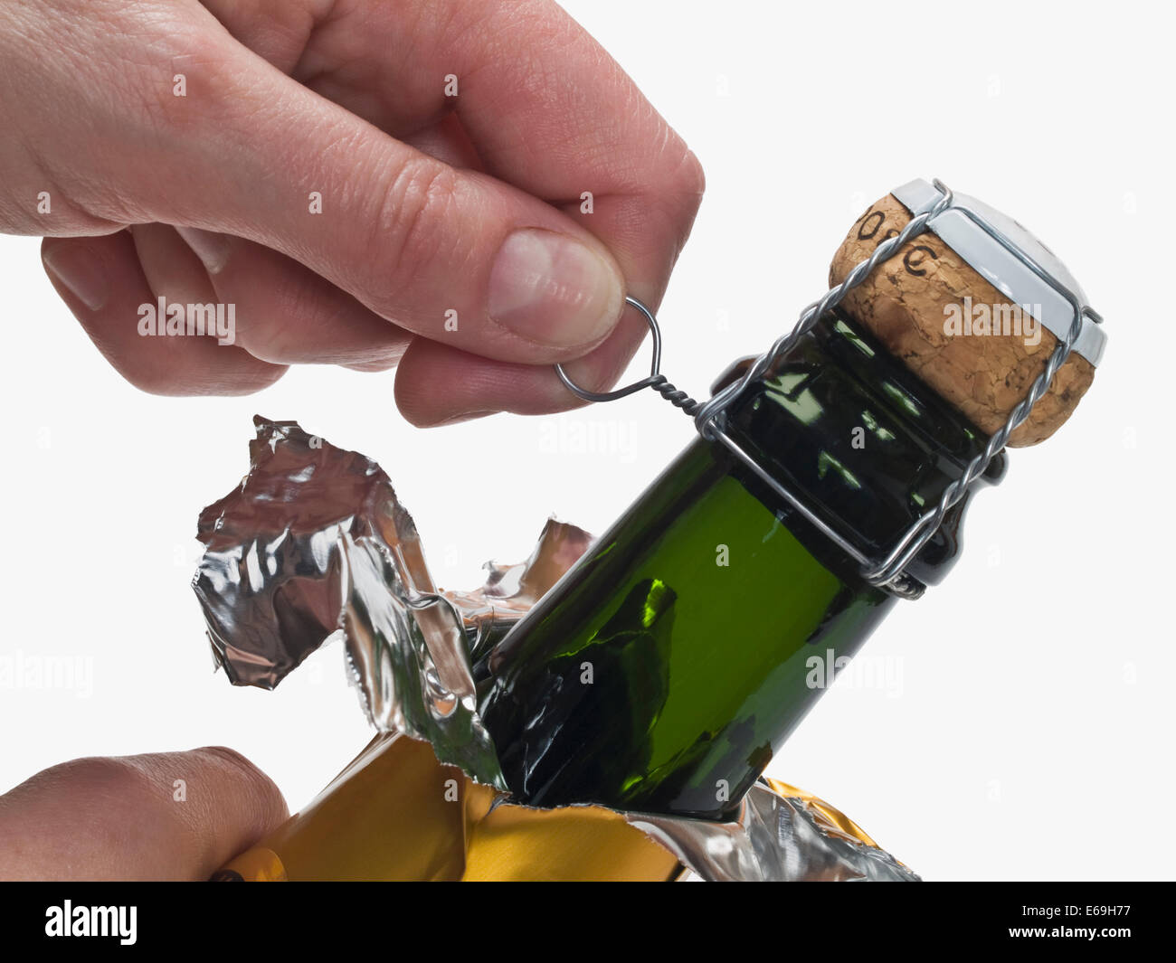 Sektflasche Verschließen