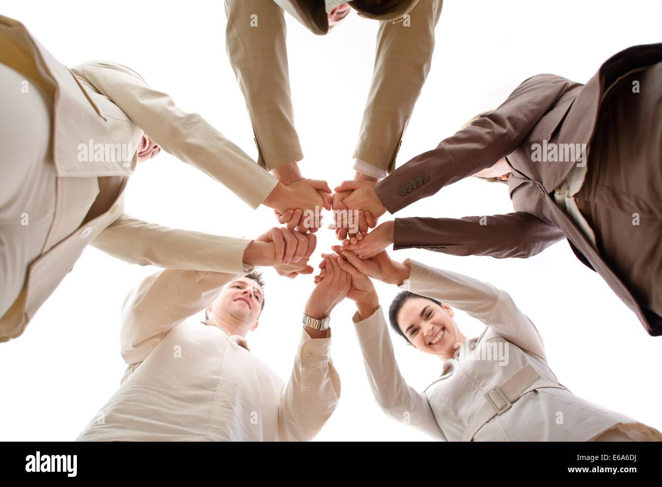 Teamarbeit, Team, Zusammenarbeit Stockbild