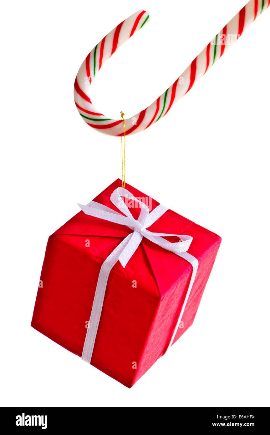 Weihnachten vorhanden, Zucker-bar Stockfoto