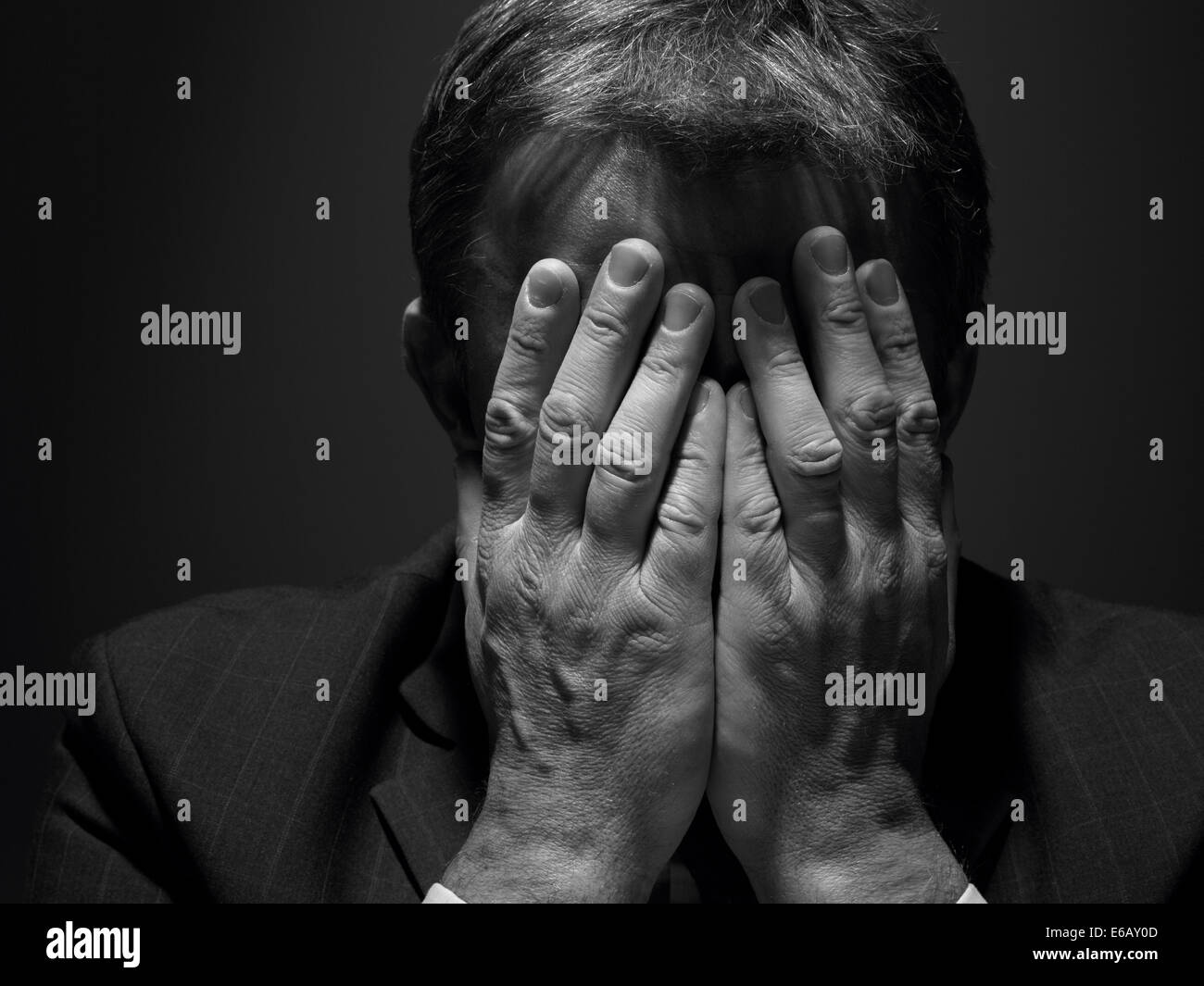 Frustration, Depression, Geschäftsmann Stockbild