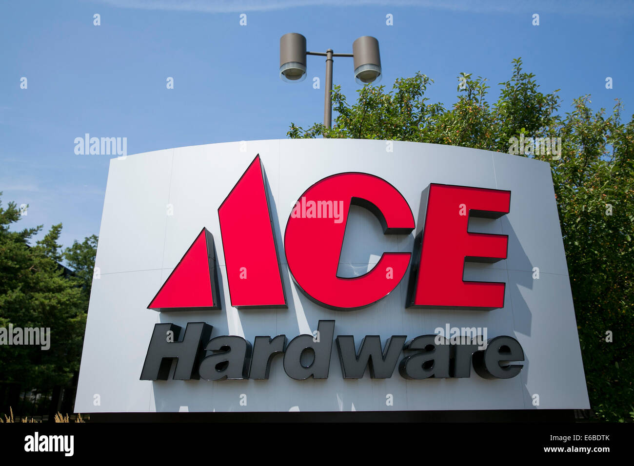 Das Hauptquartier der Ace Hardware in Oak Brook, Illinois. Stockfoto