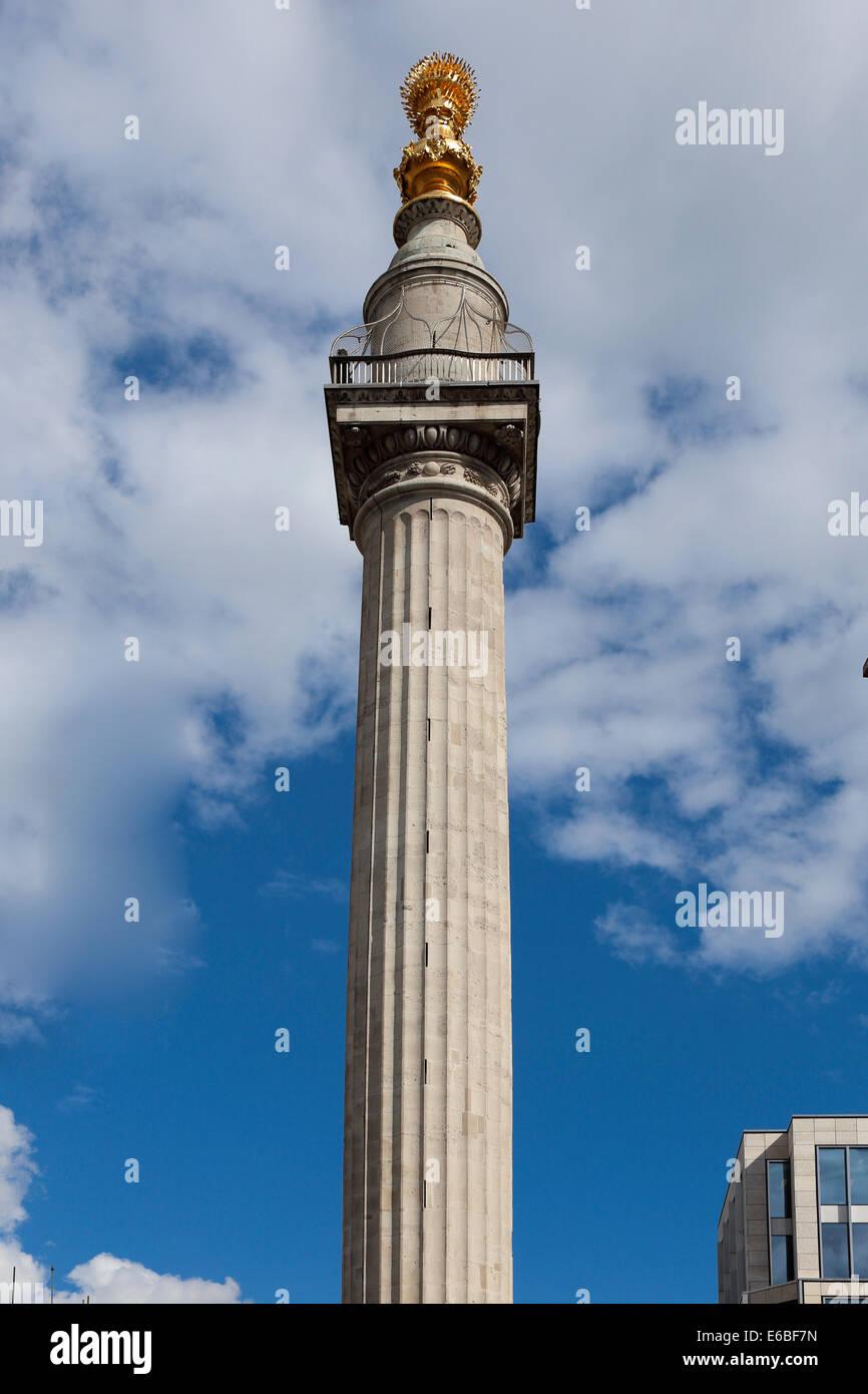 Großbritannien Great Britain London Denkmal für den großen Brand von London Stockbild
