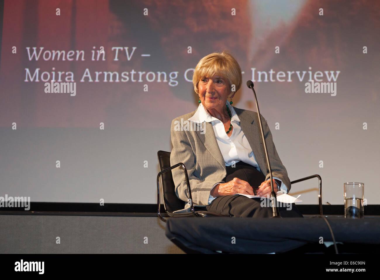 London, England, UK, 19. August 2014. Legendäre BAFTA-Award-winning Multi-Kamera TV-Drama Regisseur Moira Armstrong Stockbild