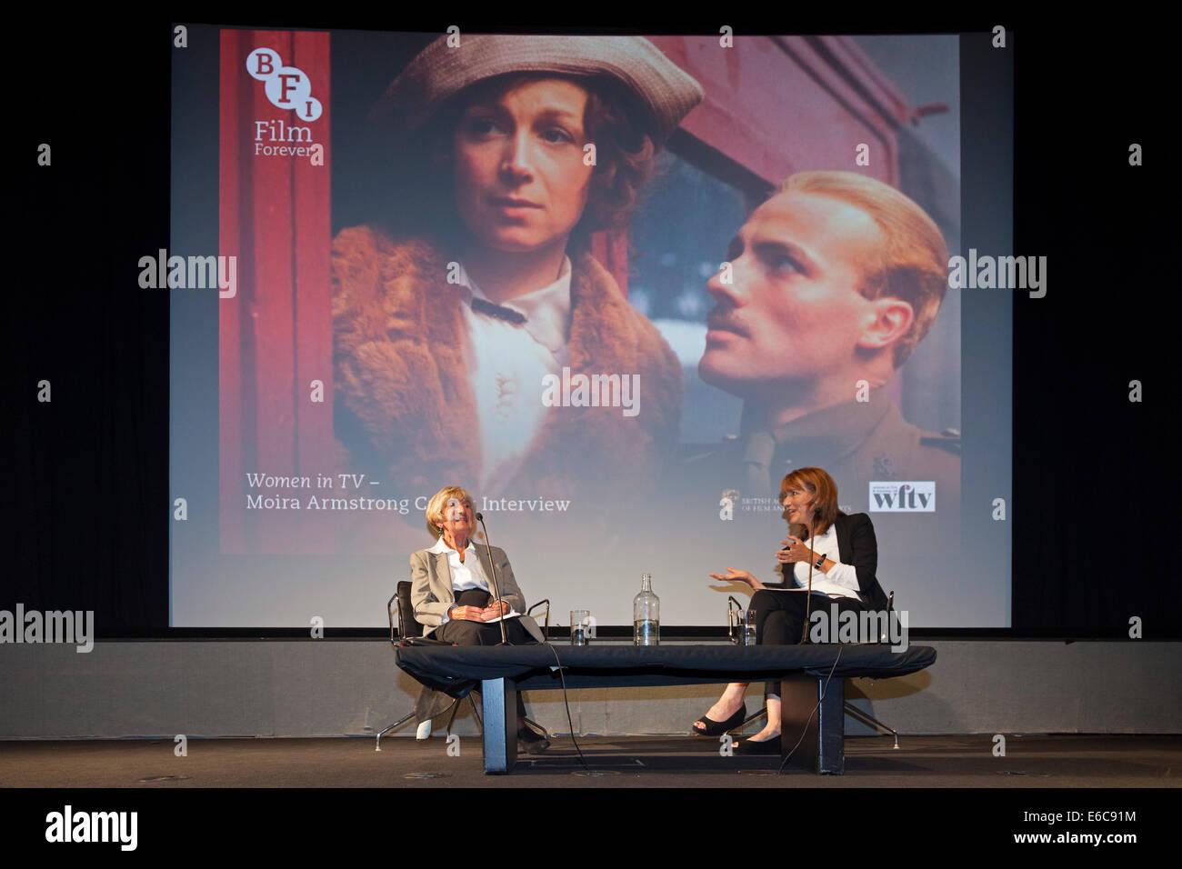London, England, UK, 19. August 2014. BAFTA-Award preisgekrönten Multi-Kamera-TV Drama Regielegende Moira Armstrong Stockbild