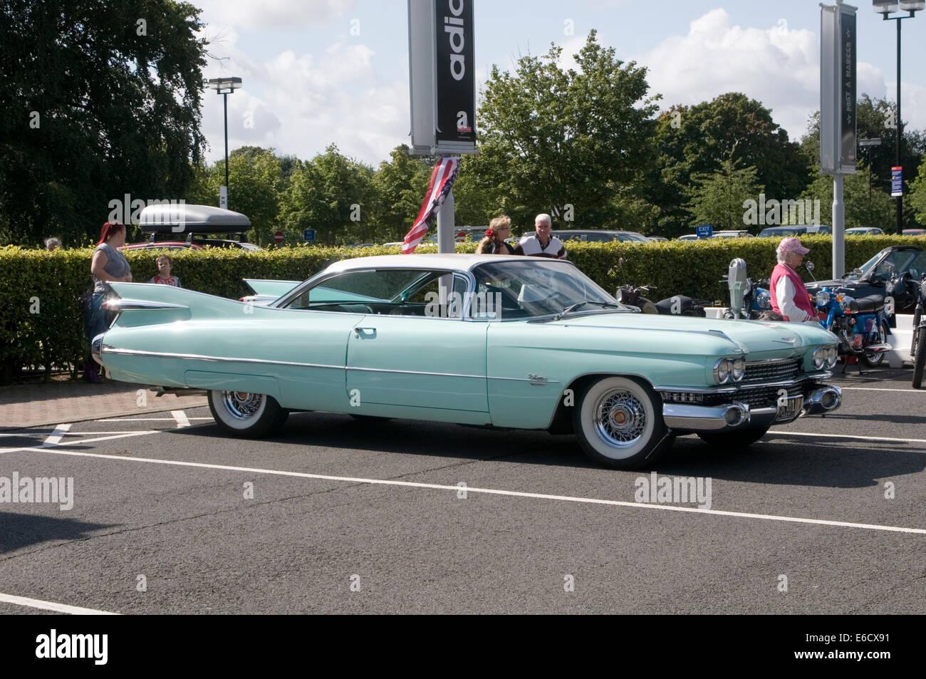 1959 Cadillac Caddy 59 50er Jahre fünfziger Jahre neunzehn genieteten Auto Autos amerikanische uns klassische Stockbild