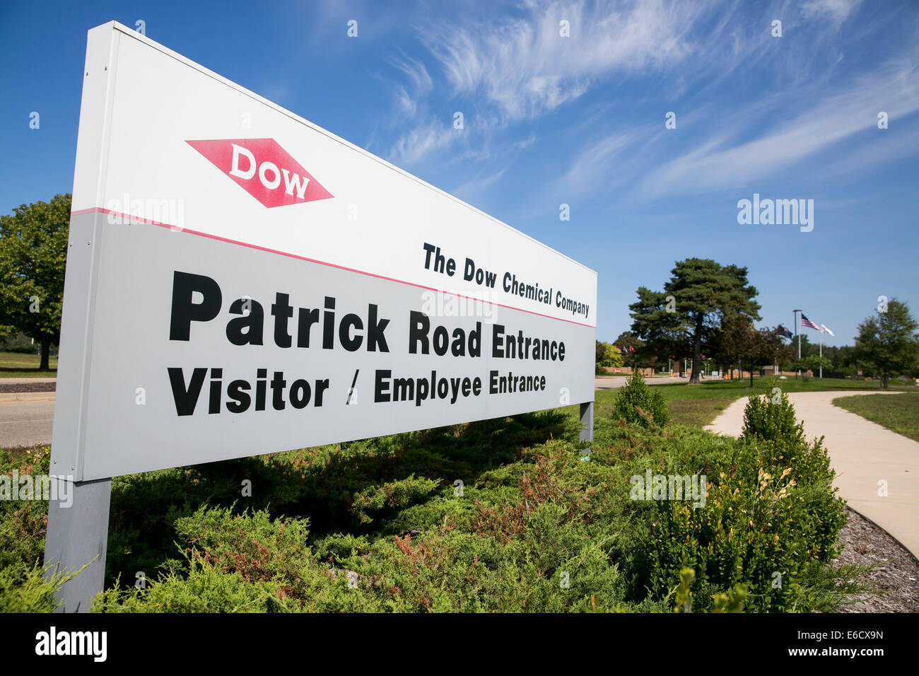 Der Hauptsitz von the Dow Chemical Company in Midland, Michigan/USA. Stockbild