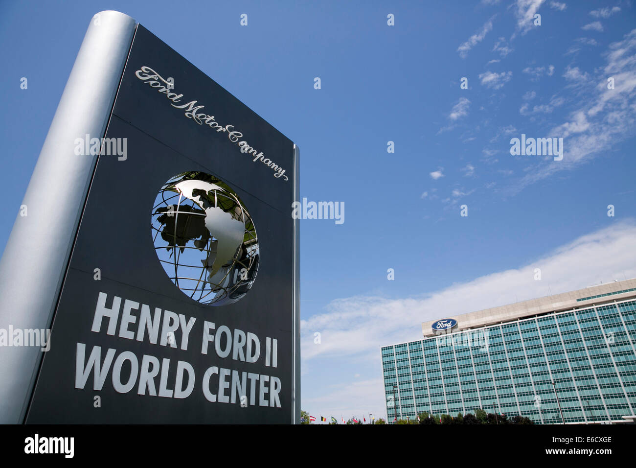 Der Sitz der Ford Motor Company in Dearborn, Michigan. Stockfoto