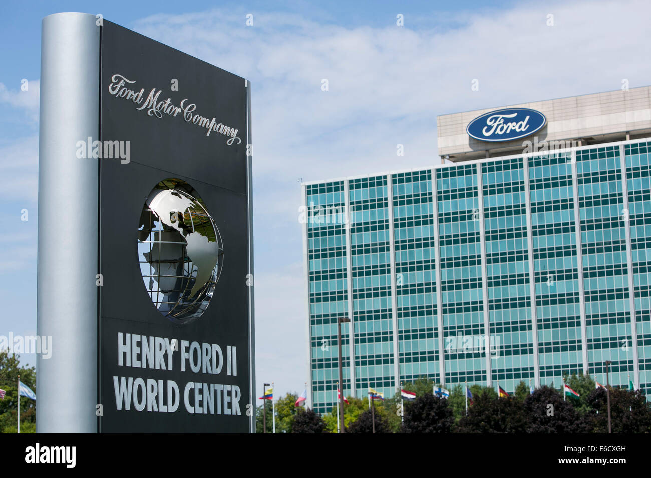 Der Sitz der Ford Motor Company in Dearborn, Michigan. Stockbild