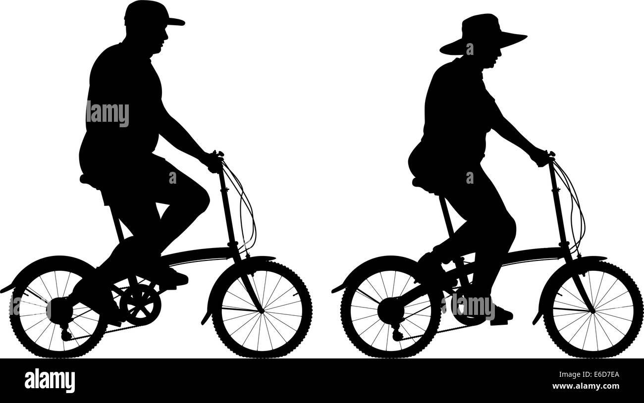 overweight man bike stockfotos overweight man bike. Black Bedroom Furniture Sets. Home Design Ideas