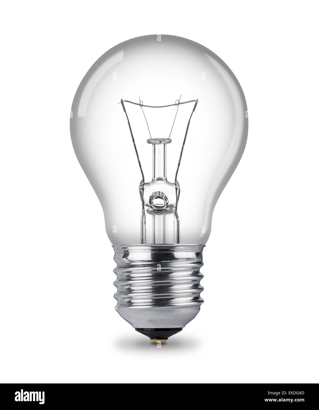 klassische Glühbirne isoliert Stockbild