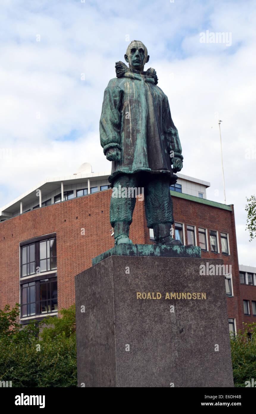 Roald Amundsen Forscher und Abenteurer, die Scoitt, um den Südpol und gewann Gefahren viele seiner Männer Stockbild