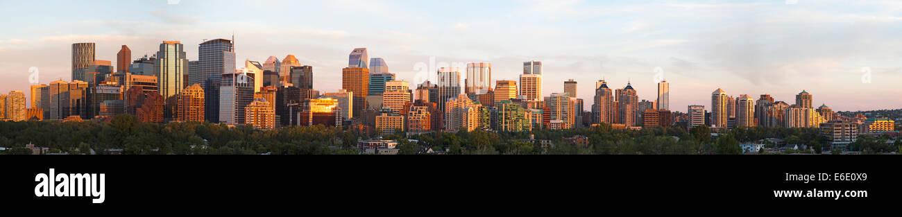 Skyline von Calgary Stockbild