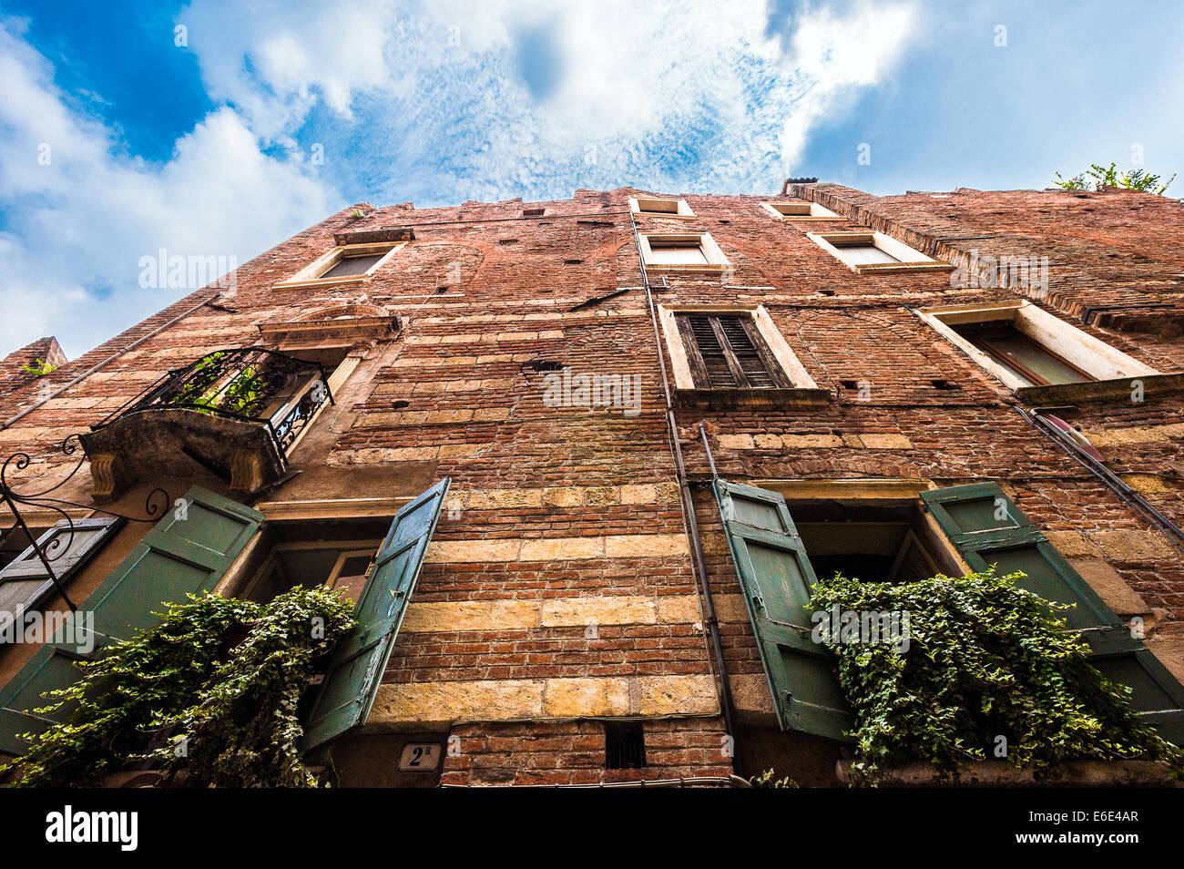 Italien-Veneto-Verona-Haus von Cagnolo Nagarola - Haus von Romeo Stockbild
