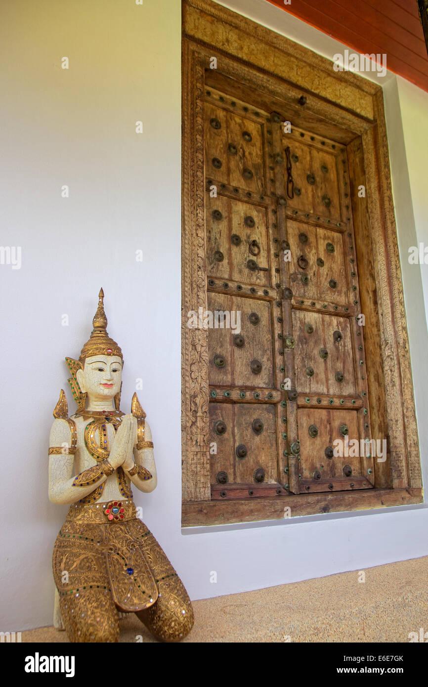 Eine Indische Tur Auf Ein Thai Haus Thailand Stockfoto