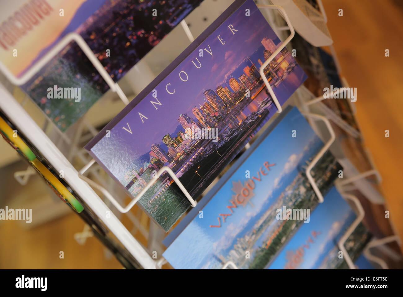 Vancouver-Postkarte-Postkarten Stockbild